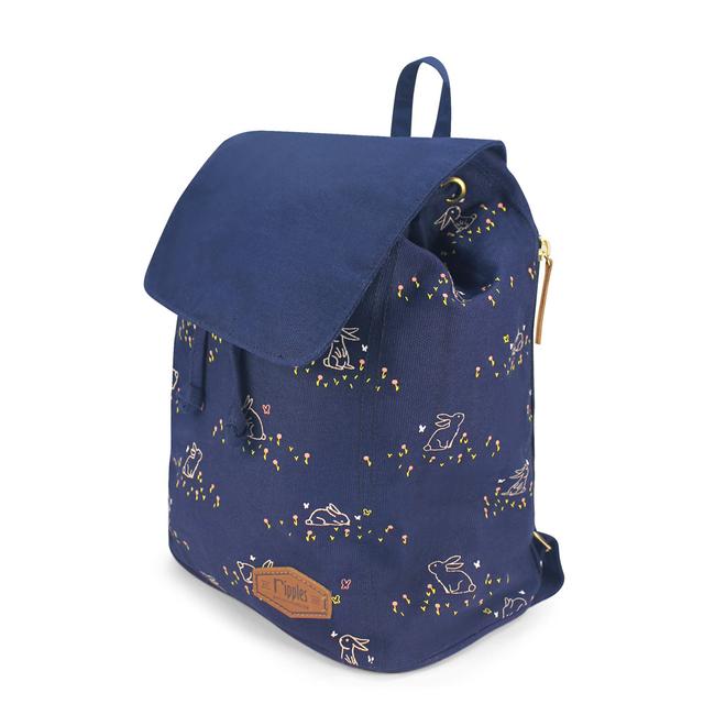 Meadow Rabbits Ladies Backpack (Navy Blue)