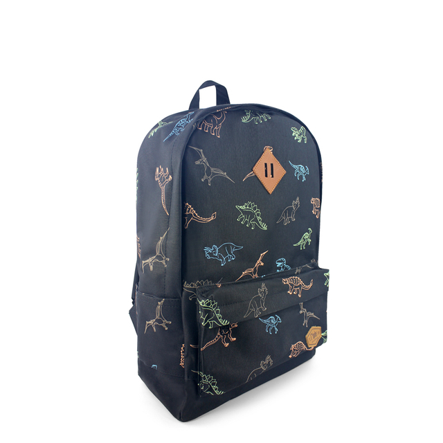 Dinosaur School Backpack (Black)
