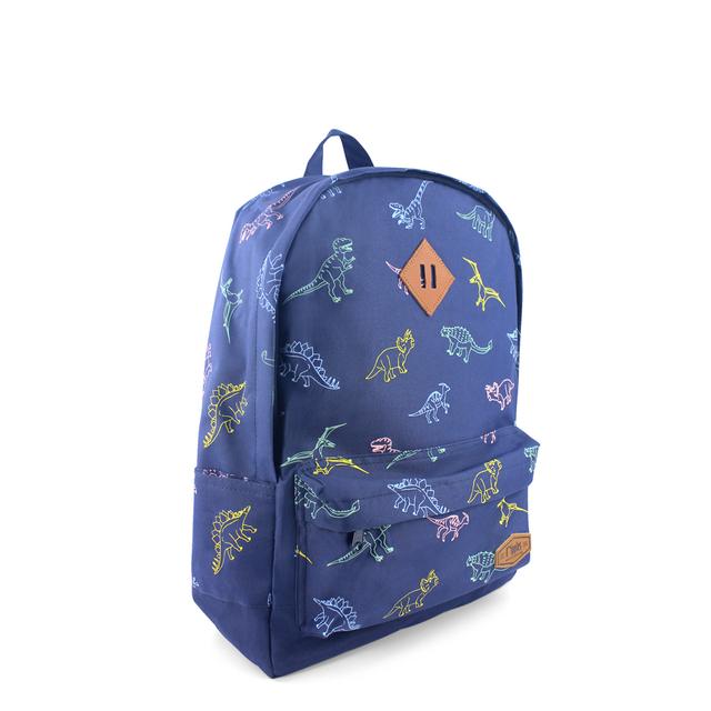 Dinosaur School Backpack (Navy Blue)