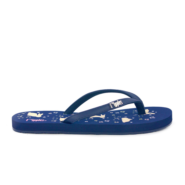 [SALE] Meadow Rabbits Ladies Flip Flops (Navy Blue)