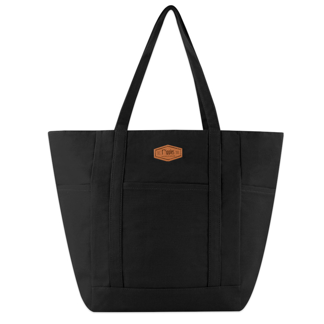 Caylie Carry-All Tote Bag (Black)