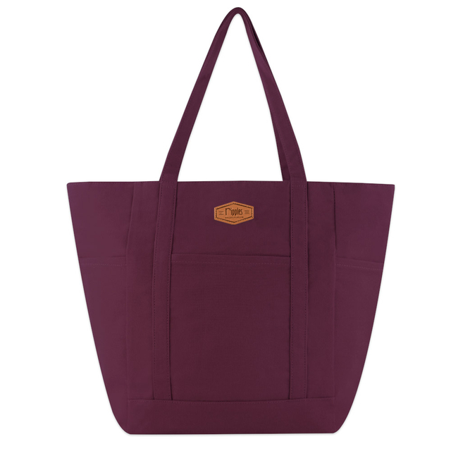 Caylie Carry-All Tote Bag (Maroon)