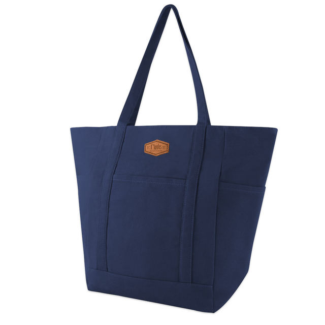 Caylie Carry-All Tote Bag (Navy Blue)