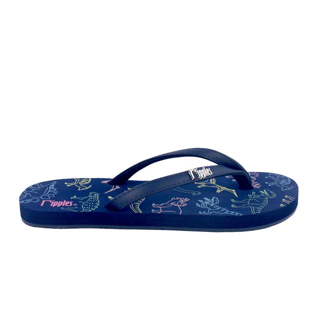 Dinosaurs Flip Flops (Navy Blue)