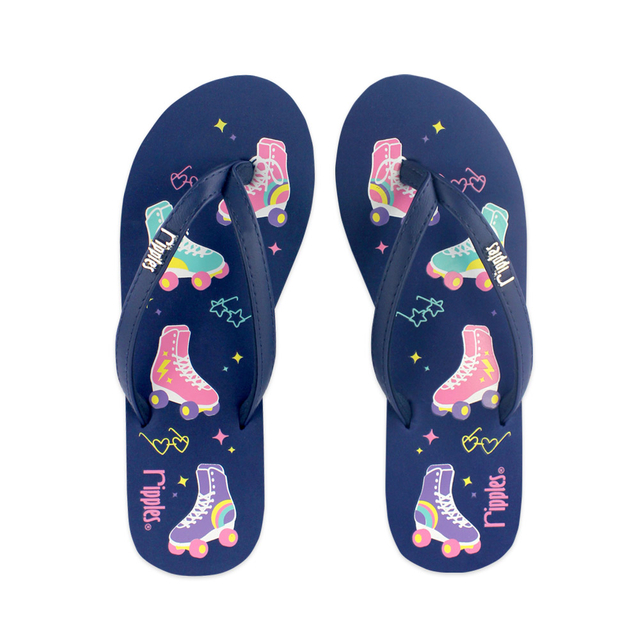 Rollerskates Ladies Flip Flops (Navy Blue)