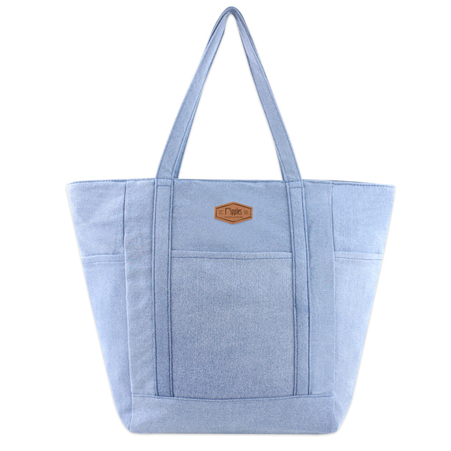 Caylie Carry-All Tote Bag (Light Denim)