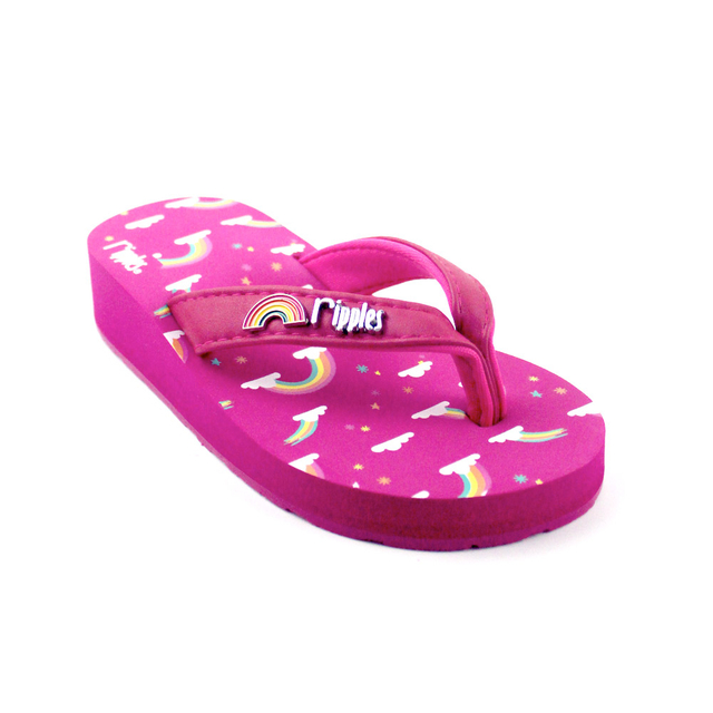 Rainbow Little Kids Wedge (Pink)