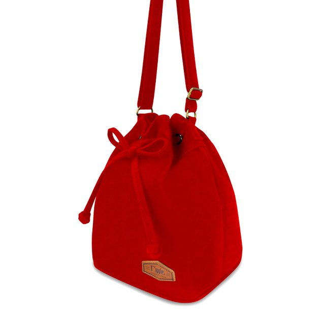 [PROMO] Chloe Basic Bucket Sling Bag (Red)