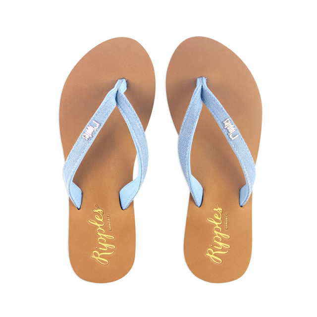 Ella Arch Support Sandals (Light Denim)