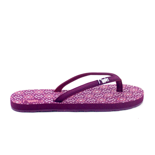 Nadia Ladies Flip Flops (Maroon Purple)