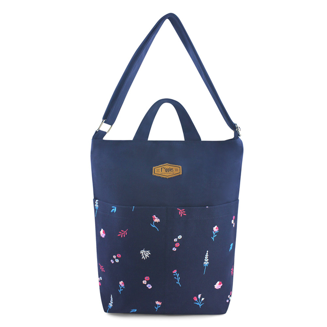 Alyssa Floral Embroidery Sling Bag (Navy Blue)