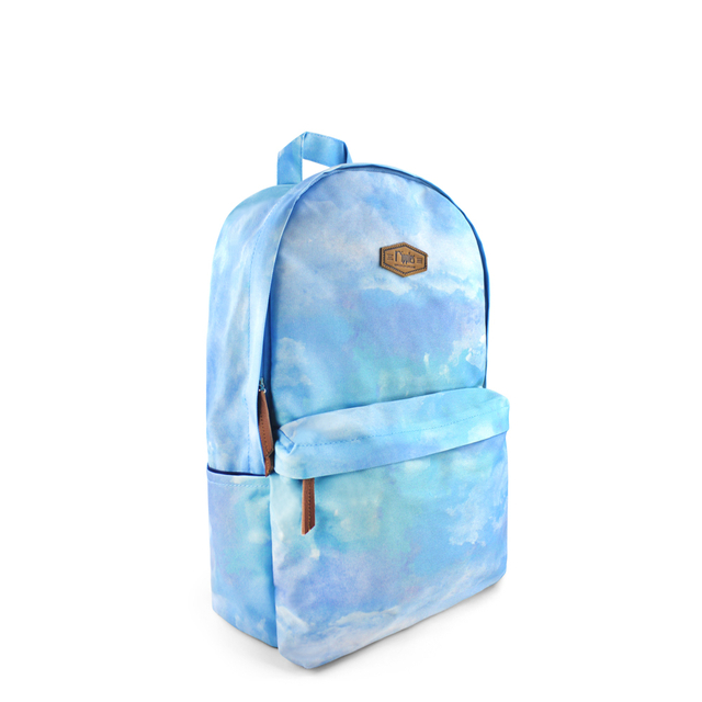 Clouds Watercolour Digital Print Backpack (Sky Blue)
