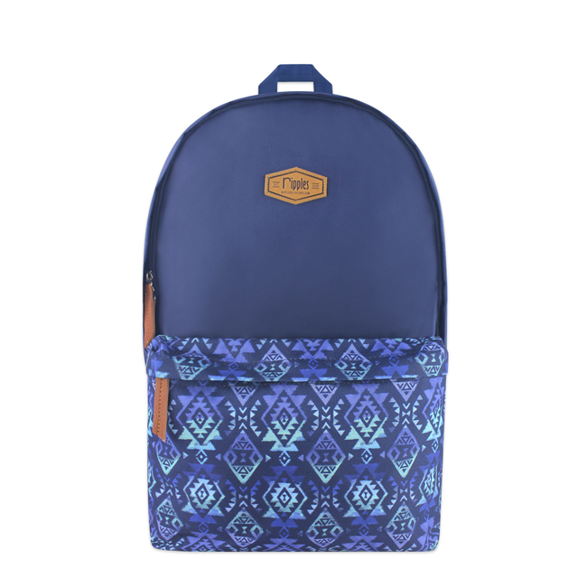 Alexis Aztec Digital Print Backpack (Navy Blue)