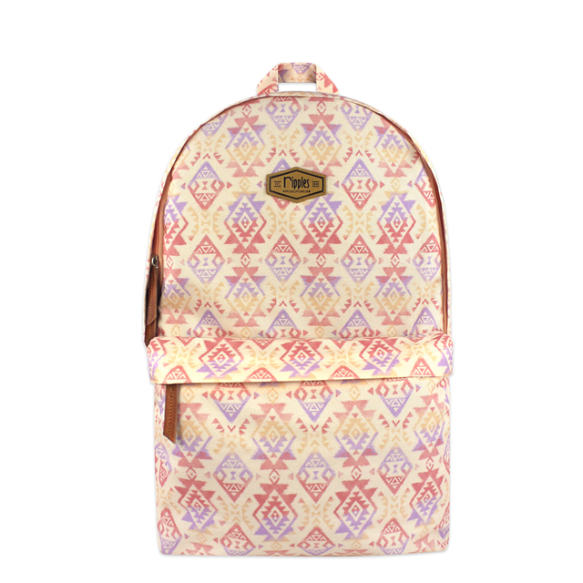[PROMO] Alexis Aztec Digital Print Backpack (Peach)
