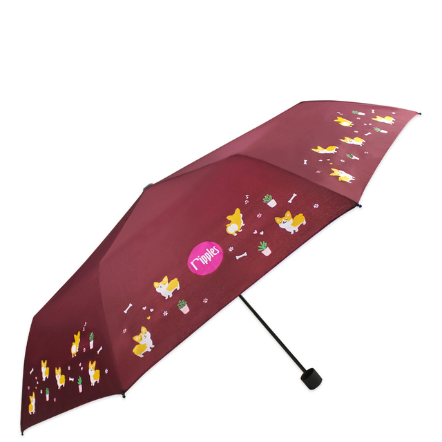[PROMO] Corgi Dog Umbrella (Brown)