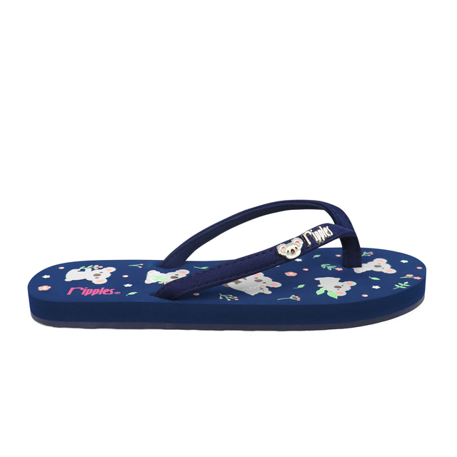 Koala Bear Ladies Flip Flops (Navy Blue)