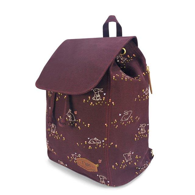 Meadow Rabbits Ladies Backpack (Maroon)