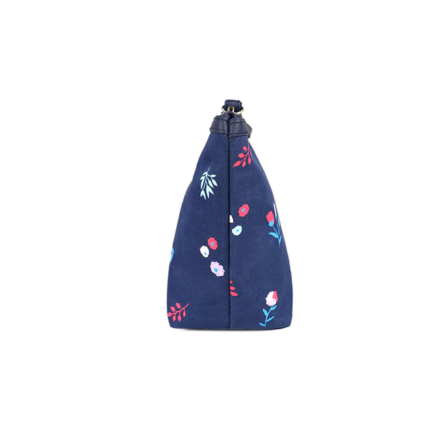[PROMO] Alyssa Floral Cosmetic Pouch (Navy Blue)
