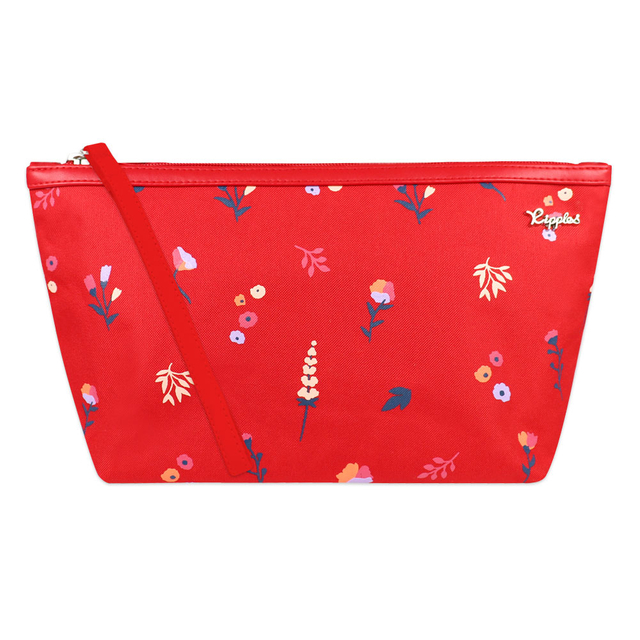 [PROMO] Alyssa Floral Cosmetic Pouch (Red)