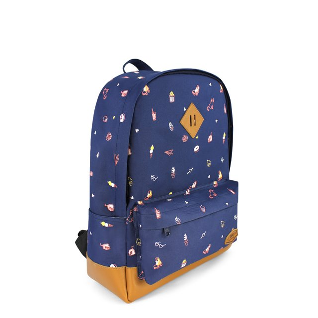 Tiny Things  School Backpack (Navy Blue)