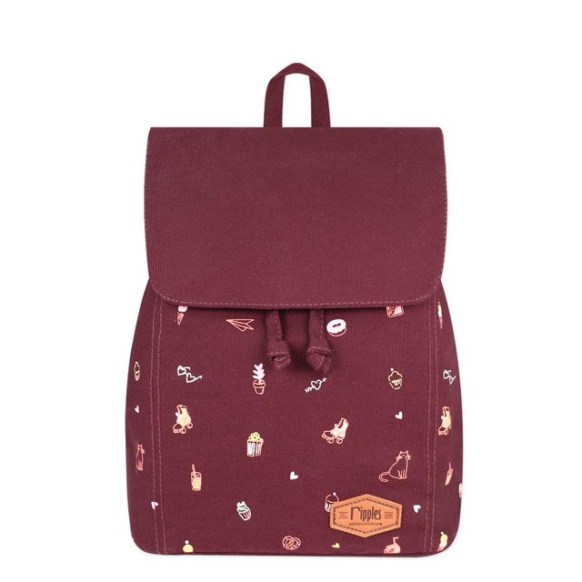 Tiny Things Ladies Backpack (Maroon)