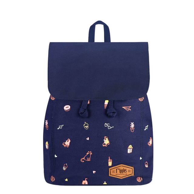 Tiny Things Ladies Backpack (Navy Blue)