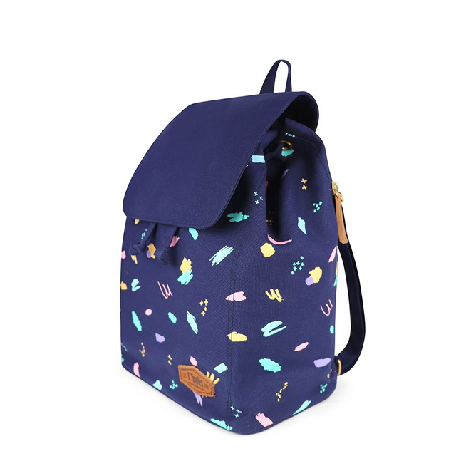 Scribbles Brushstrokes Ladies Backpack (Navy Blue)