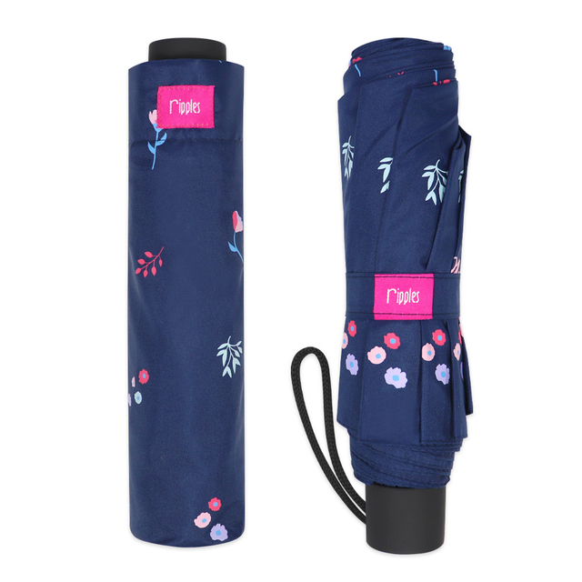 [PROMO] Alyssa Floral Umbrella (Navy Blue)