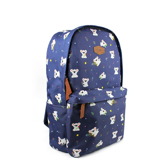 Koala Bear Digital Print Backpack (Navy Blue)
