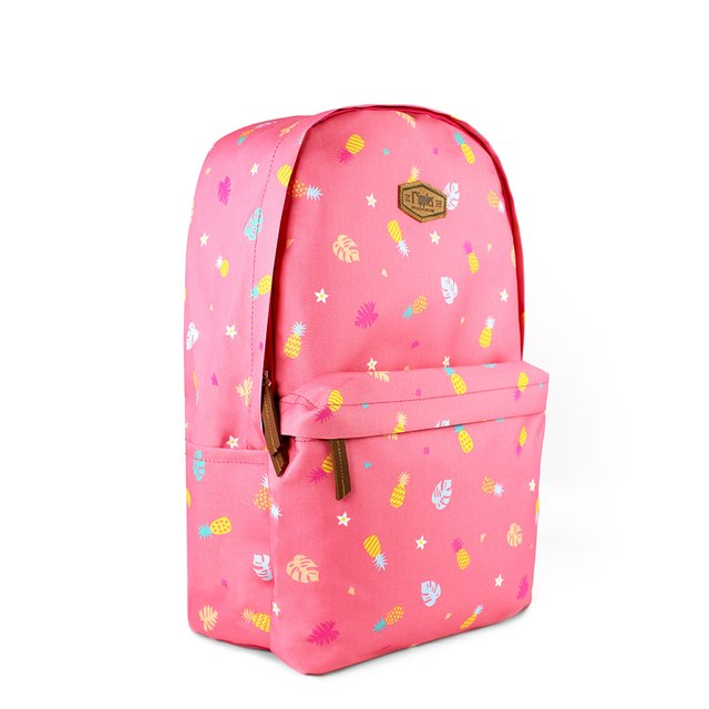 Pineapple Digital Print Backpack (Pink)