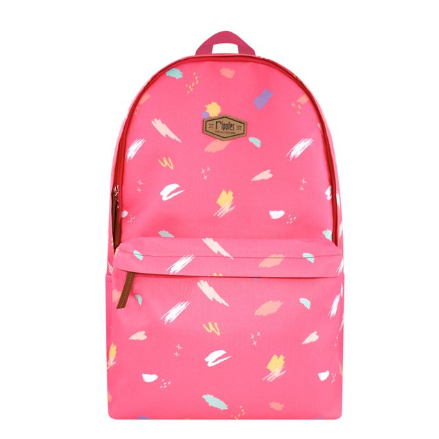 Scribble Brushstrokes Digital Print Backpack (Pink)