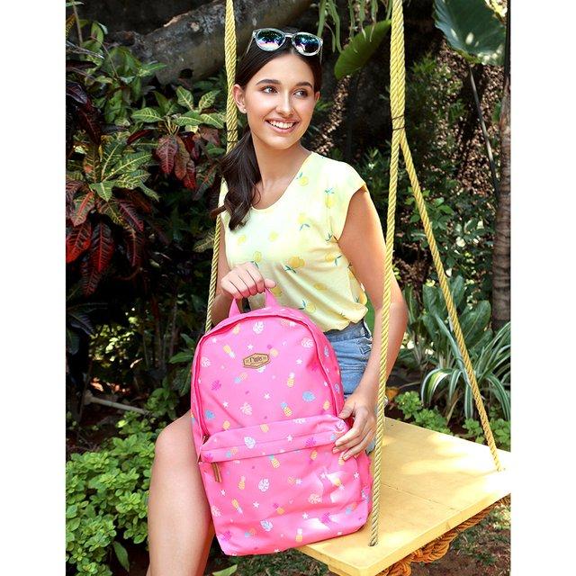 Pineapple Digital Print Backpack (Pink)