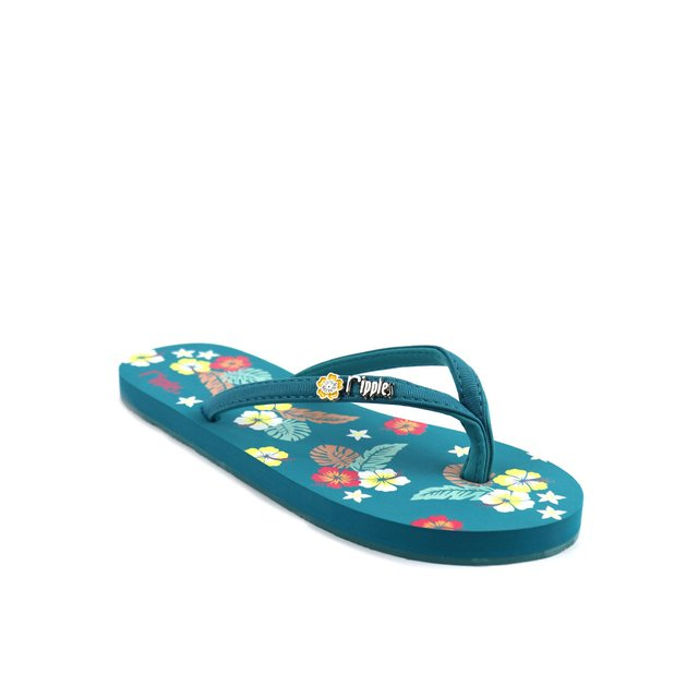 Kariyushi Floral Ladies Flip Flops (Emerald Green)