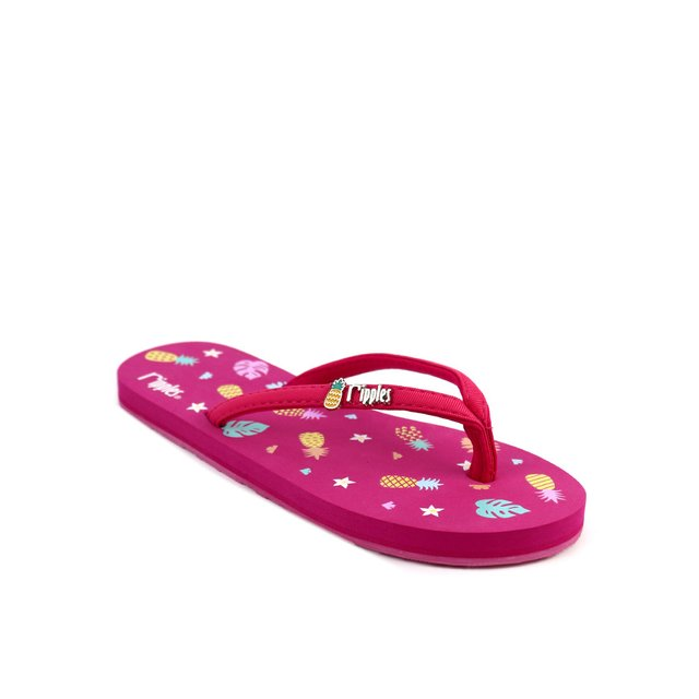 Pineapple Ladies Flip Flops (Pink)