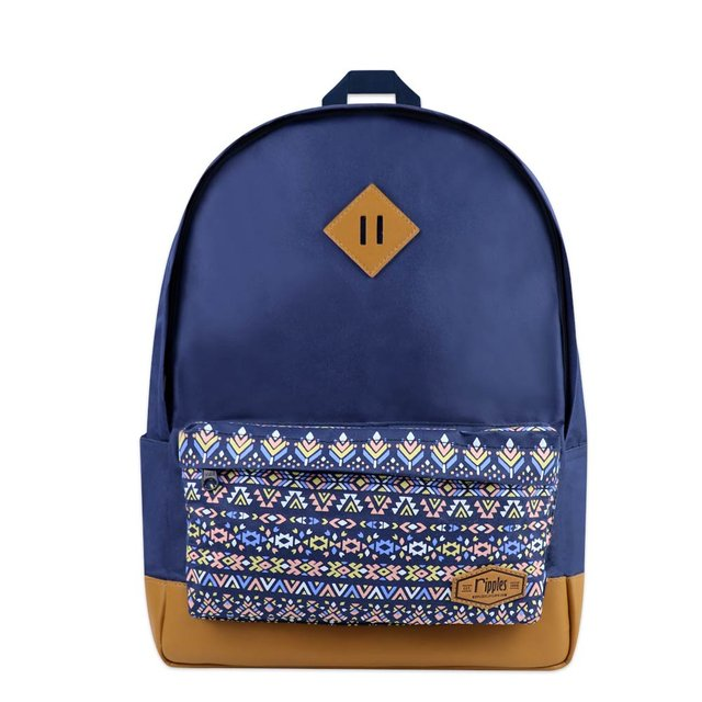 Astrial Aztec School Backpack (Navy Blue)
