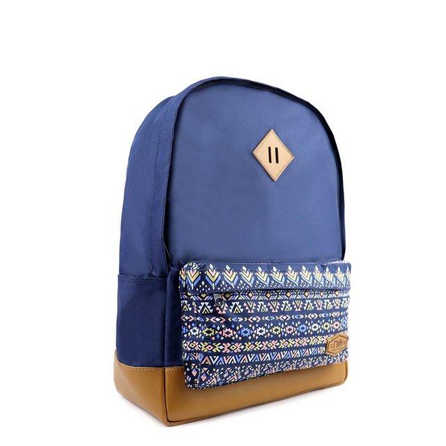 Astrial Aztec School Backpack (Navy Blue)