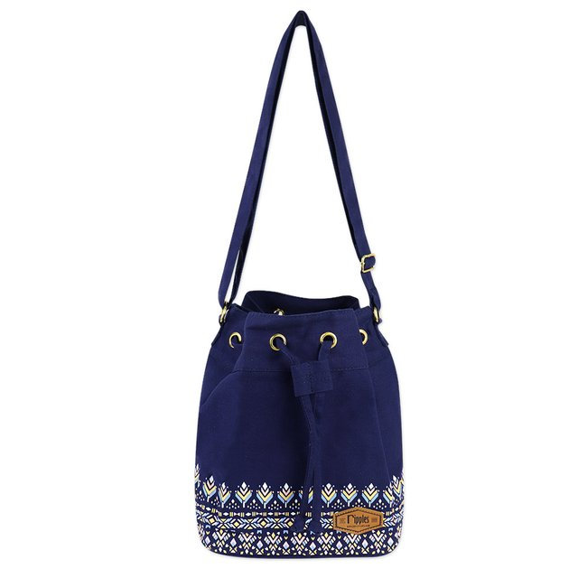 Astrial Aztec Bucket Sling Bag (Navy Blue)