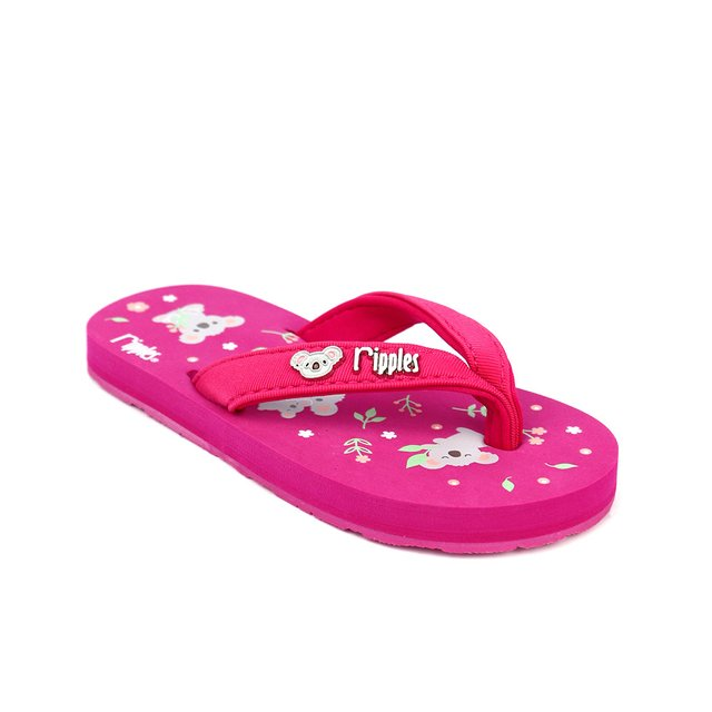 Koala Bear Little Kids Flip Flops (Pink)