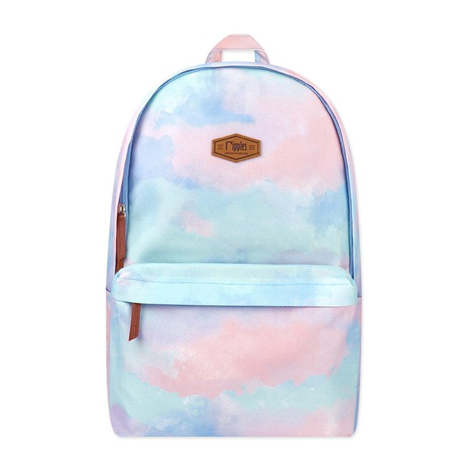 Clouds Watercolour Digital Print Backpack (Candyfloss)