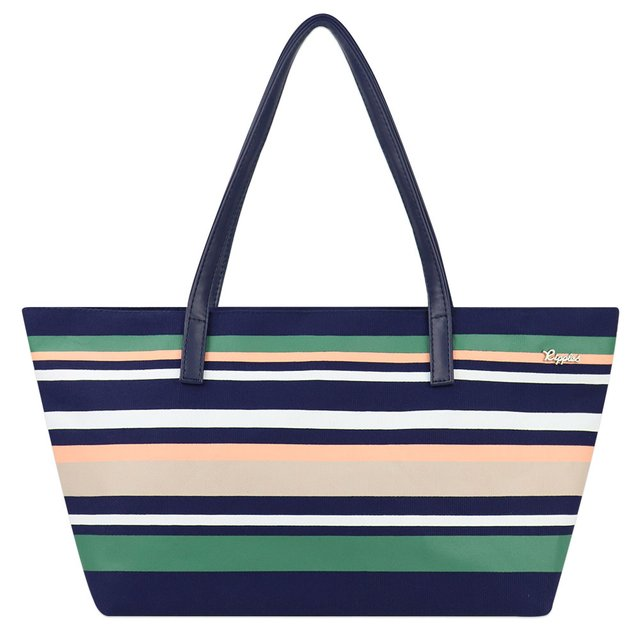 Lynette Stripes Handbag (Navy Blue)