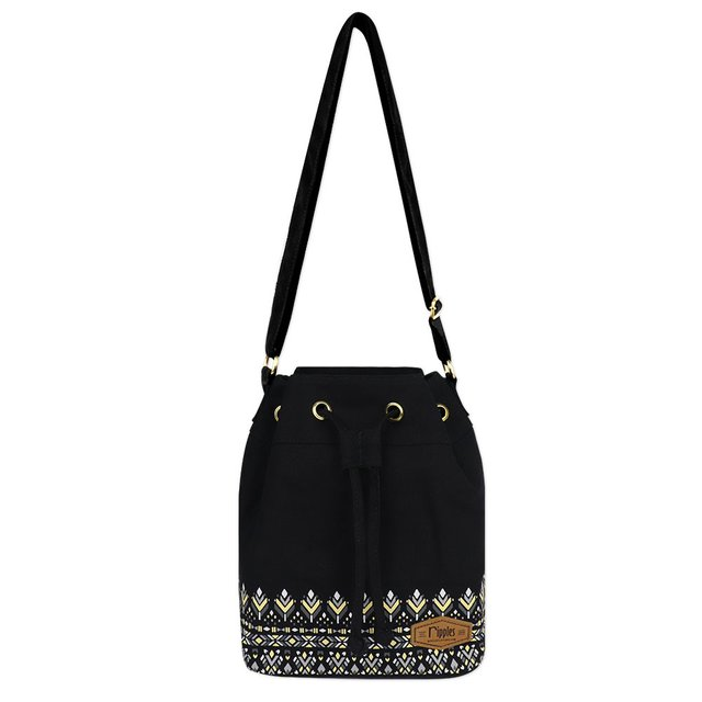 Astrial Aztec Bucket Sling Bag (Black)