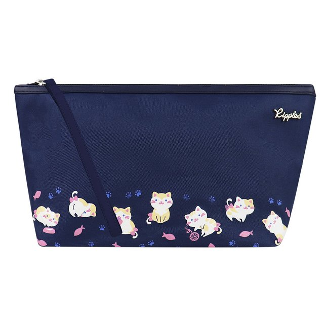 [PROMO] Kittens Cosmetic Pouch (Navy Blue)