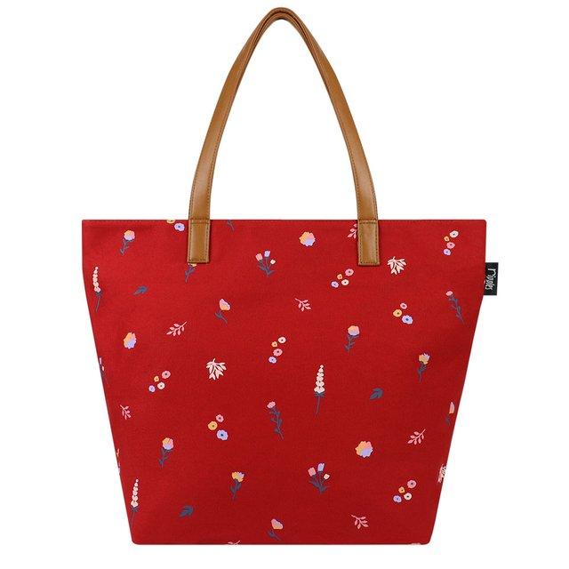[PROMO] Alyssa Florals Tote Bag (Red)