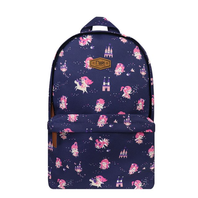Fairies Digital Print Backpack (Navy Blue)