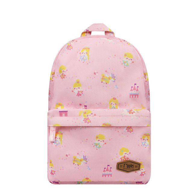 Fairies Mid Sized Kids School Backpack (Pink)