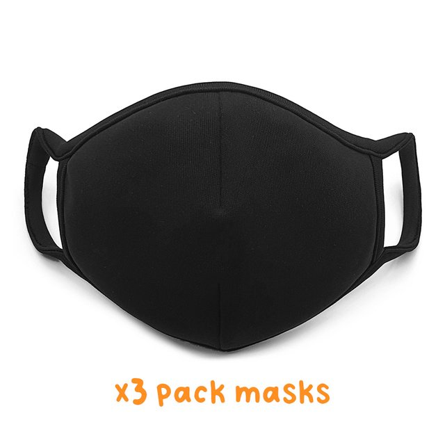 [3 packs] Reusable Face Mask (Regular Size)