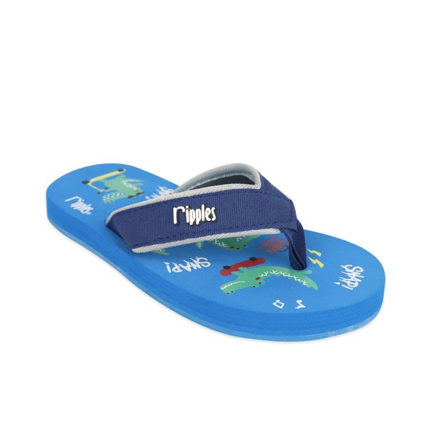 Crocodile Little Kids Flip Flops (Blue)