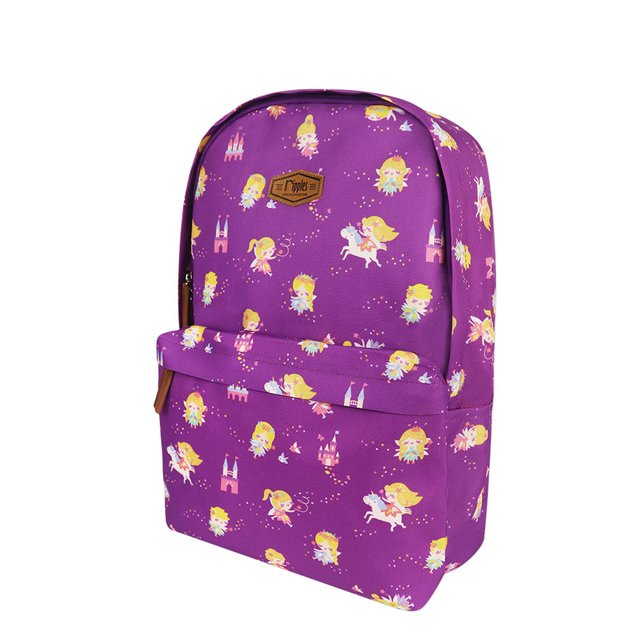 Fairies Digital Print Backpack (Purple)