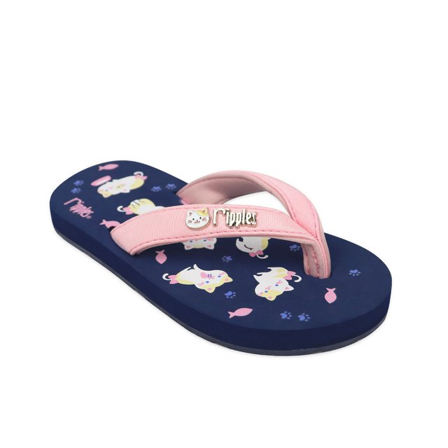 Kittens Little Kids Flip Flops (Navy Blue)
