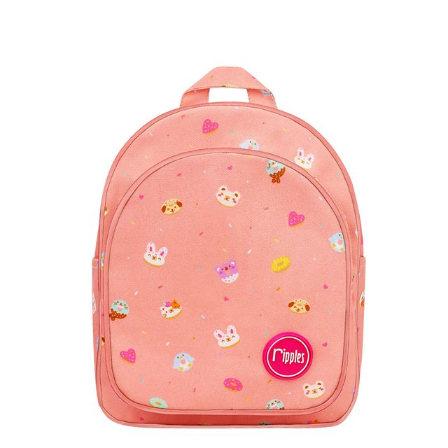 Animal Donuts Kids Backpack (Peach)